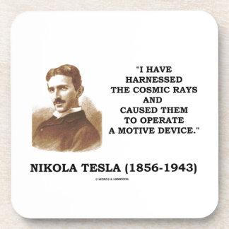 Nikola Tesla Harnessed Cosmic Rays Motive Device Drink Coaster