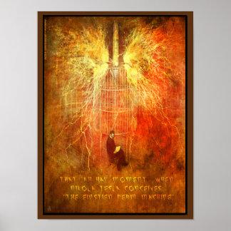 Nikola Tesla has an 'AH HA' Moment Poster