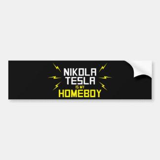 Nikola Tesla is My Homeboy Bumper Stickers