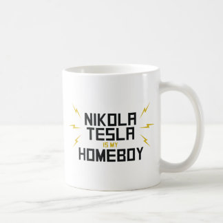 Nikola Tesla is My Homeboy Classic White Coffee Mug