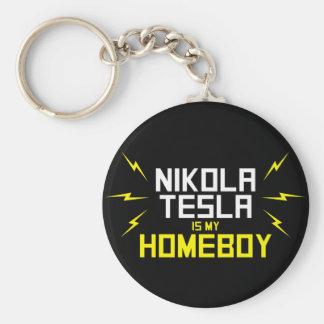 Nikola Tesla is My Homeboy Key Chains