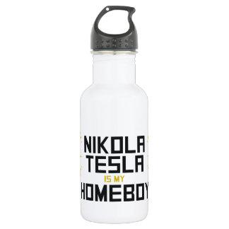 Nikola Tesla is My Homeboy 18oz Water Bottle
