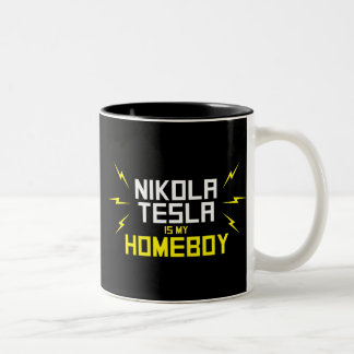 Nikola Tesla is My Homeboy Two-Tone Coffee Mug