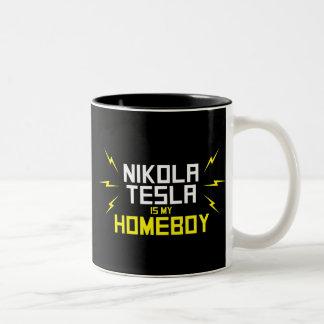 Nikola Tesla is My Homeboy Two-Tone Mug