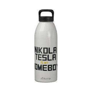 Nikola Tesla is My Homeboy Reusable Water Bottles