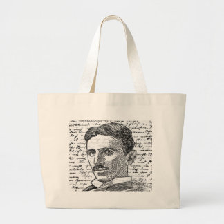 Nikola Tesla Large Tote Bag
