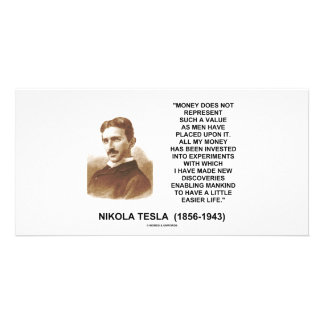 Nikola Tesla Money Value Discoveries Easier Life Photo Cards