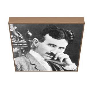 """Nikola Tesla on Canvas 12"""" x 12"""""""