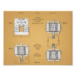 Nikola Tesla Patent Print