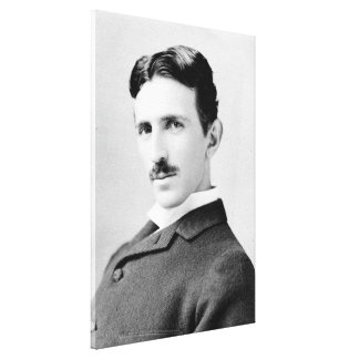 Nikola Tesla Portrait Gallery Wrap Canvas