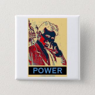Nikola Tesla Power (Obama-Like Poster) 2 Inch Square Button