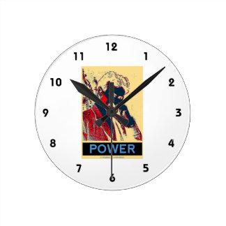 Nikola Tesla Power (Obama-Like Poster) Wallclock