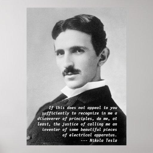 Nikola Tesla Quote Posters