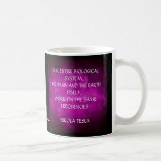 Nikola Tesla Quote - Same Frequencies Coffee Mug