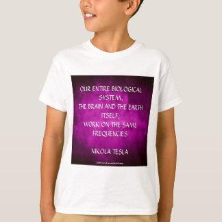 Nikola Tesla Quote - Same Frequencies T-Shirt