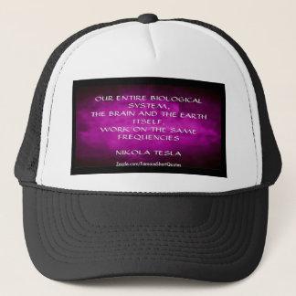 Nikola Tesla Quote - Same Frequencies Trucker Hat