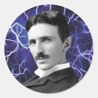 Nikola Tesla Round Sticker