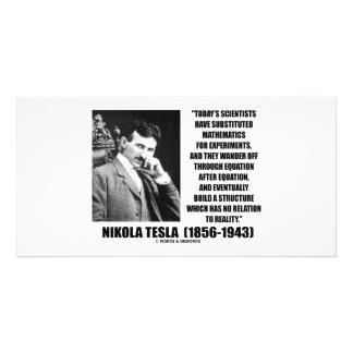 Nikola Tesla Scientists Equation No Relation Quote Photo Cards