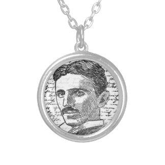 Nikola Tesla Silver Plated Necklace