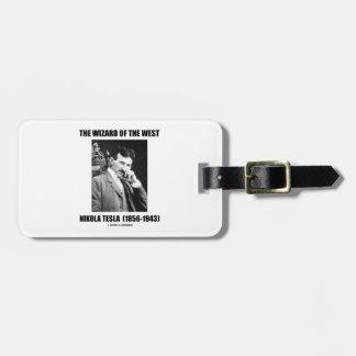Nikola Tesla The Wizard Of The West Luggage Tag