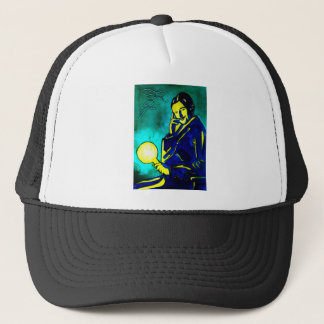 Nikola Tesla - Think Green Trucker Hat