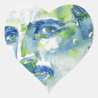 nikola tesla - watercolor portrait.1 heart sticker
