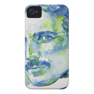 nikola tesla - watercolor portrait.1 iPhone 4 Case-Mate cases