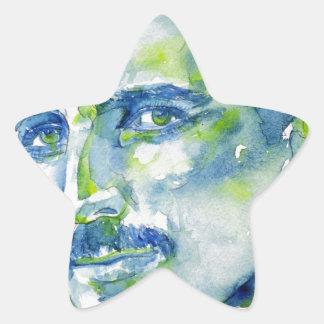 nikola tesla - watercolor portrait.1 star sticker