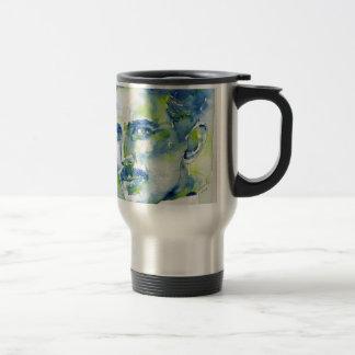 nikola tesla - watercolor portrait.1 travel mug
