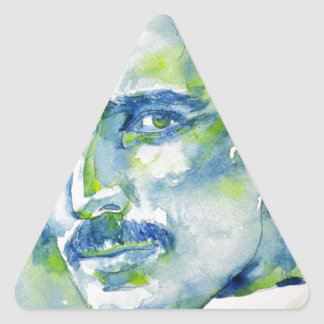 nikola tesla - watercolor portrait.1 triangle sticker
