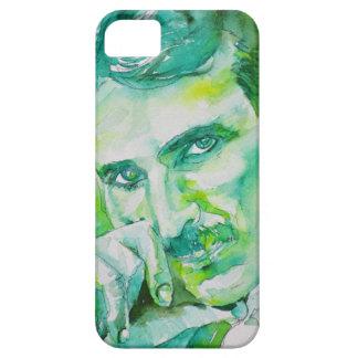 nikola tesla - watercolor portrait.2 iPhone 5 case