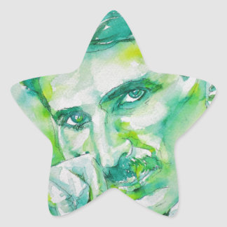 nikola tesla - watercolor portrait.2 star sticker