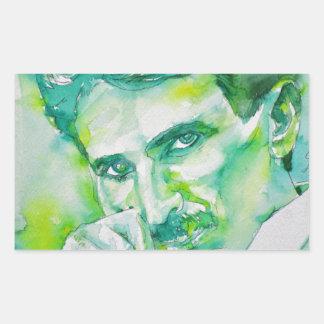 nikola tesla - watercolor portrait.2 sticker
