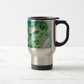 nikola tesla - watercolor portrait.2 travel mug