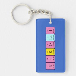 Nikolai periodic table name keyring Single-Sided rectangular acrylic keychain
