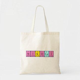 Nikolai periodic table name tote bag