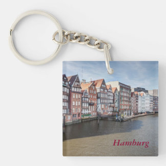 Nikolaifleet, Hamburg, Germany Single-Sided Square Acrylic Keychain