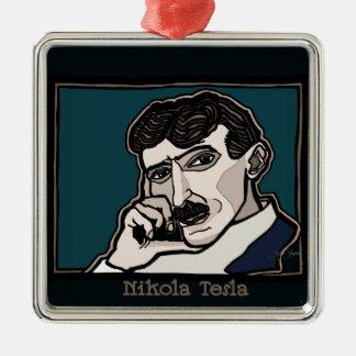 NikolaTesla Metal Ornament