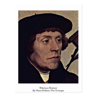 Nikolaus Kratzer By Hans Holbein The Younger Postcard
