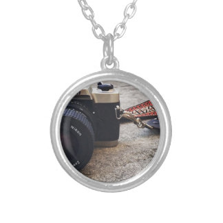 Nikon Film Camera Silver Plated Necklace