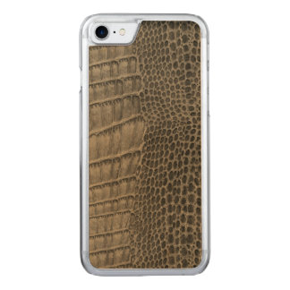 Nile Crocodile Classic Reptile Leather (Faux) Carved iPhone 7 Case