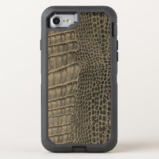 Nile Crocodile Classic Reptile Leather (Faux) OtterBox Defender iPhone 8/7 Case