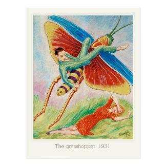 Nils von Dardel Grasshopper Gräshoppan 1931 Postcard