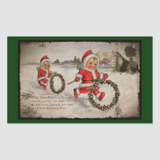 Nimbly Nicks with Holly Wreaths Sticker