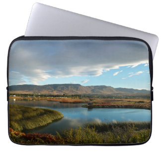 Nimez Lagoon at golden hour Laptop Sleeve