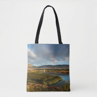 Nimez Lagoon at golden hour Tote Bag