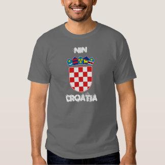 Nin, Croatia with coat of arms T-shirts