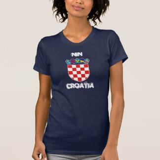 Nin, Croatia with coat of arms Tshirt