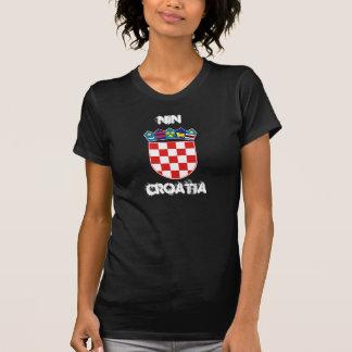 Nin, Croatia with coat of arms Tshirts