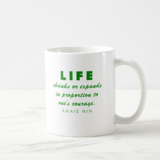 Nin on Courage Classic White Coffee Mug